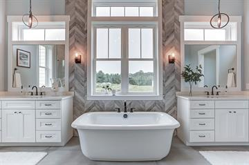 Vinyl Windows makes for gorgeous view in bathroom