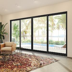 Photo of MI 1617 vinyl door with farm-house style black interior