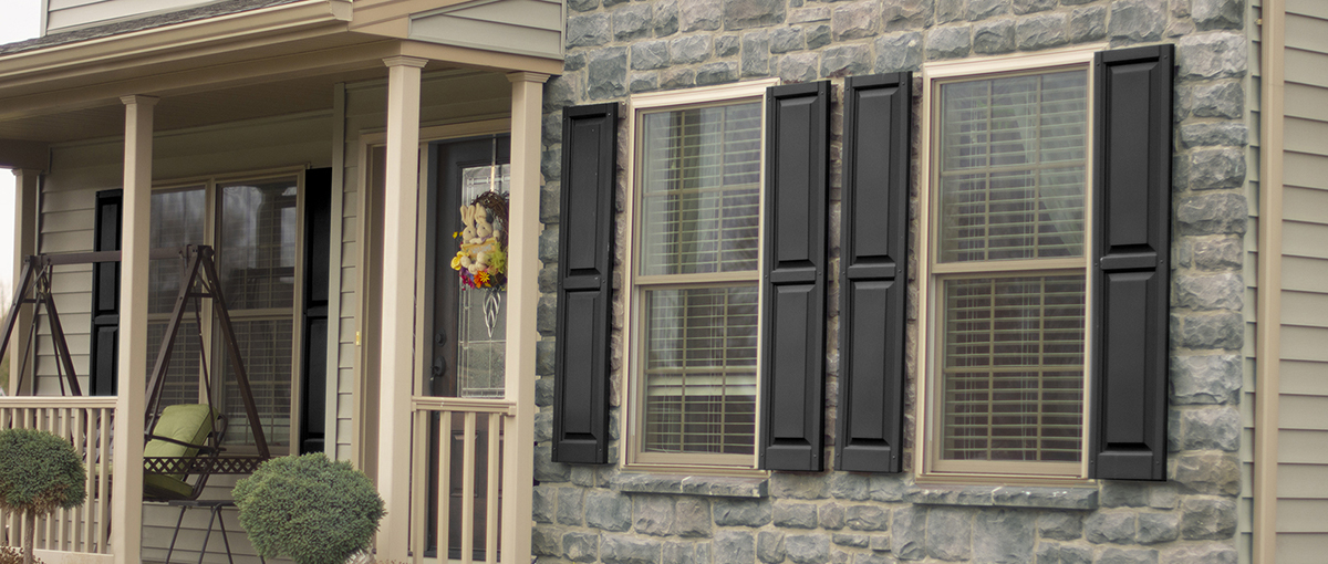 Photo of clay 1650 windows on stone house