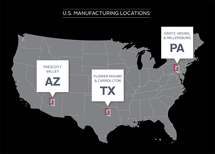 US Manufacturing Locations