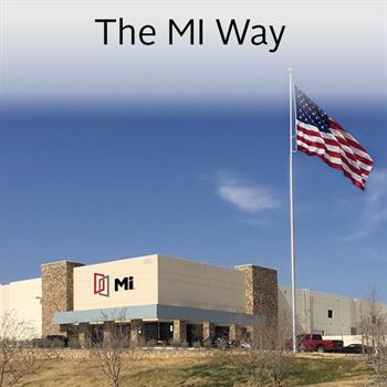 An MI Manufacturing Plant with American Flag
