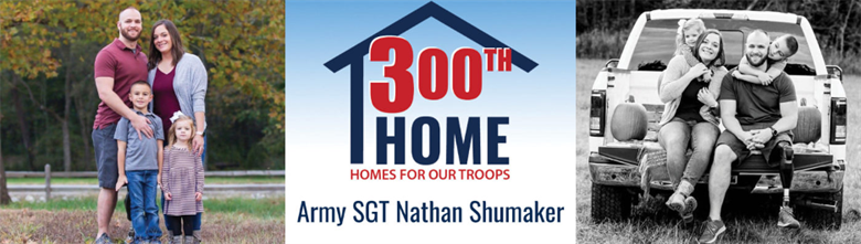 Banner photo of Homes For Our Troops 300th Home