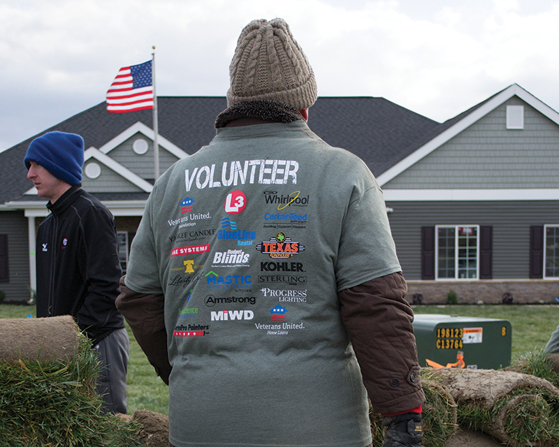 MI Foundation Helps to Landscape Homes for Our Troops Home