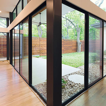... Interior view of an MI Windows and Doors 420 aluminum sliding glass door panel ... & Sliding Doors | Patio Doors | MI Windows and Doors
