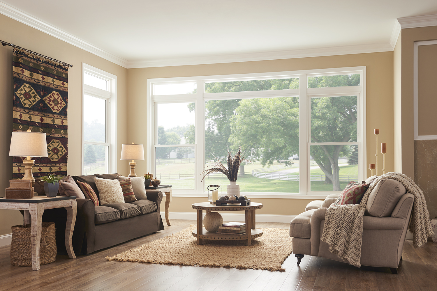 MI EnergyCore 180 Double-Hung Windows in Western-Inspired ...