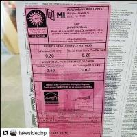 Photo of Pink NFRC Label Donation